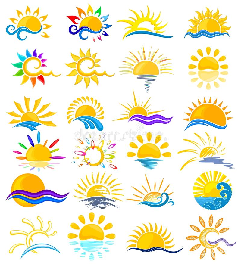 Logotipos de Sun con el mar libre illustration