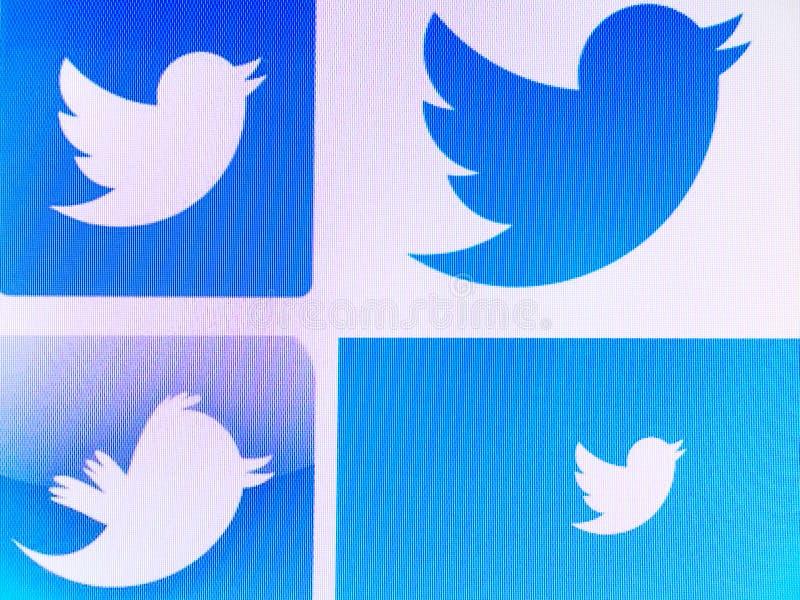 Logotipos de Twitter fotografía de archivo