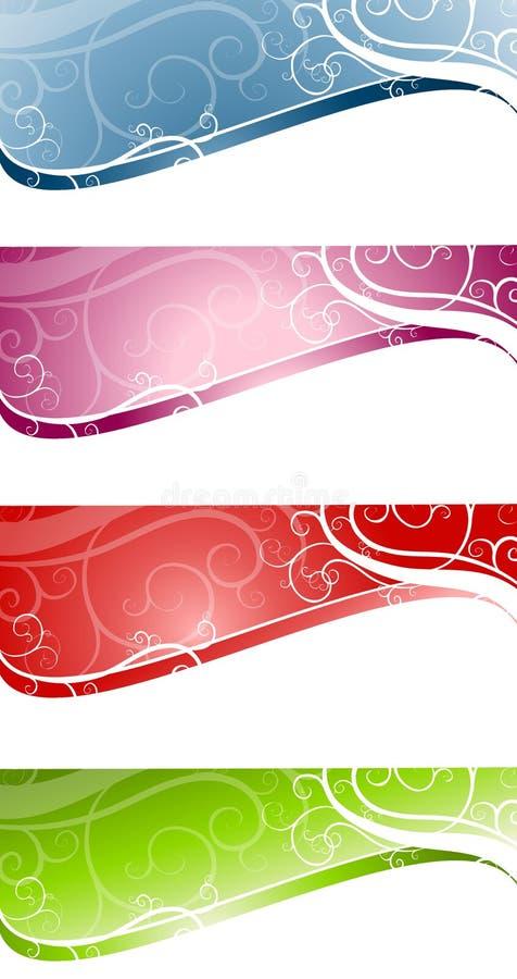 Logotipos decorativos do Web page de Swoosh dos redemoinhos ilustração do vetor