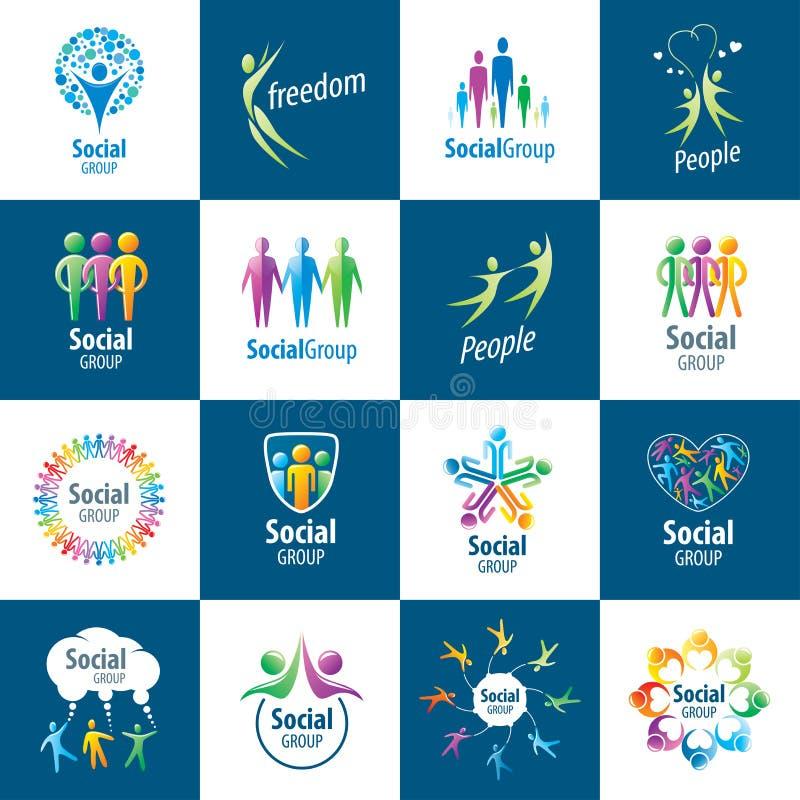 Download Logotipos del grupo social ilustración del vector. Ilustración de elemento - 64208968