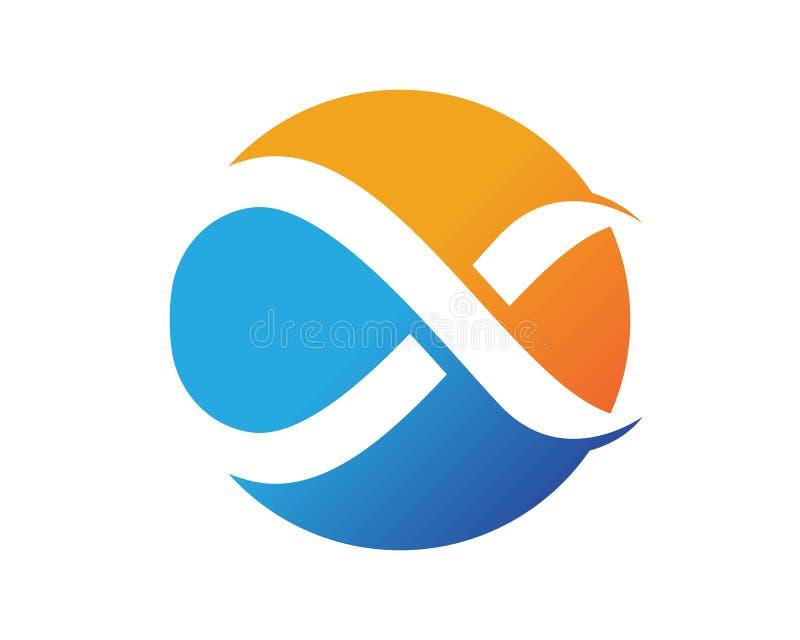 Logotipos del infinito e iconos app de la plantilla de los símbolos ilustración del vector