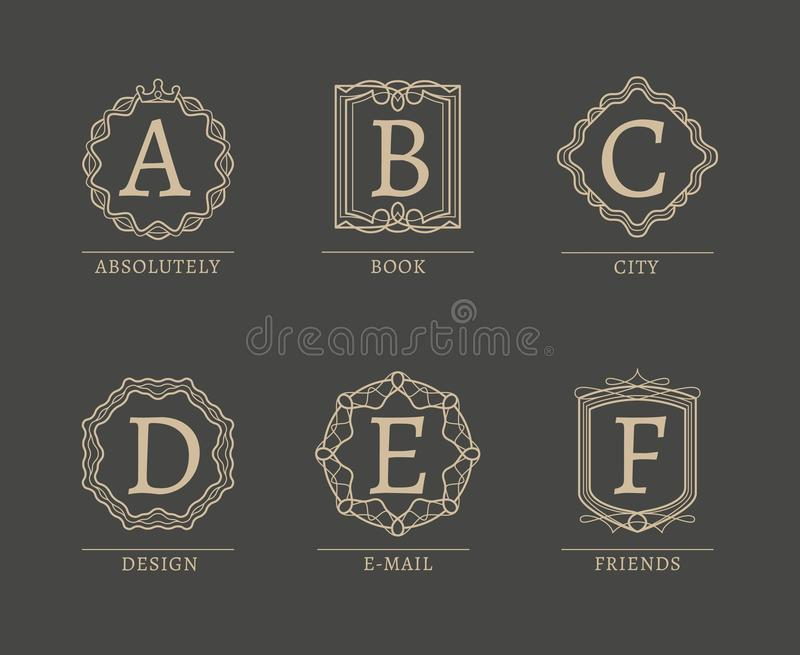 Logotipos del monograma libre illustration