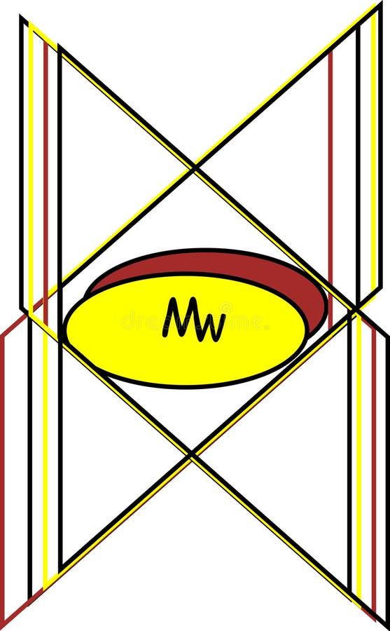 Logotipos del Mw stock de ilustración