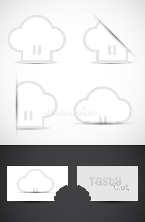 Logotipos del sombrero del cocinero stock de ilustración