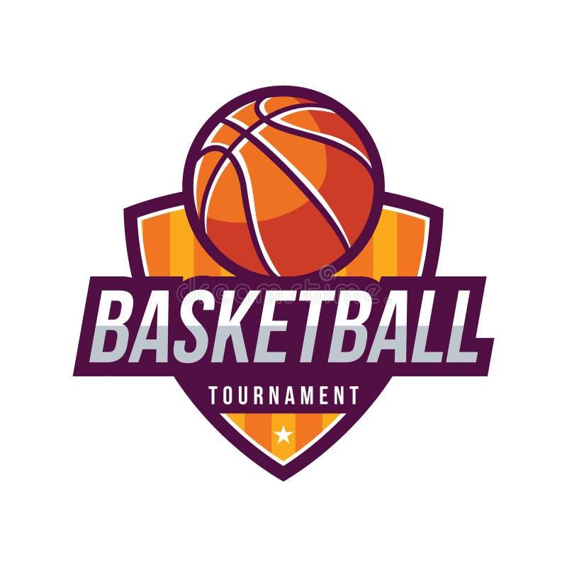 Logotipos del torneo del baloncesto ilustración del vector