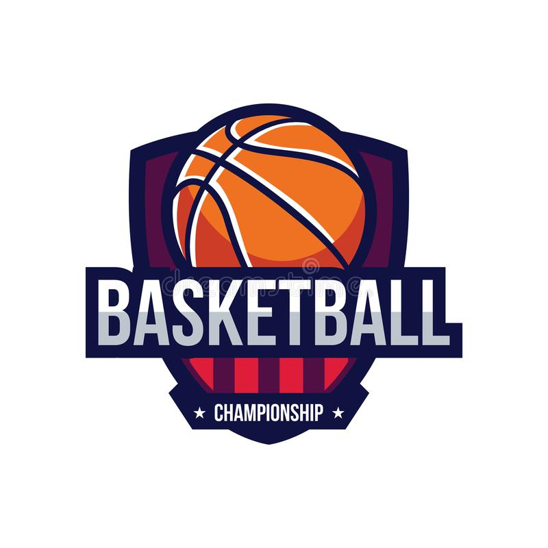 Logotipos del torneo del baloncesto stock de ilustración