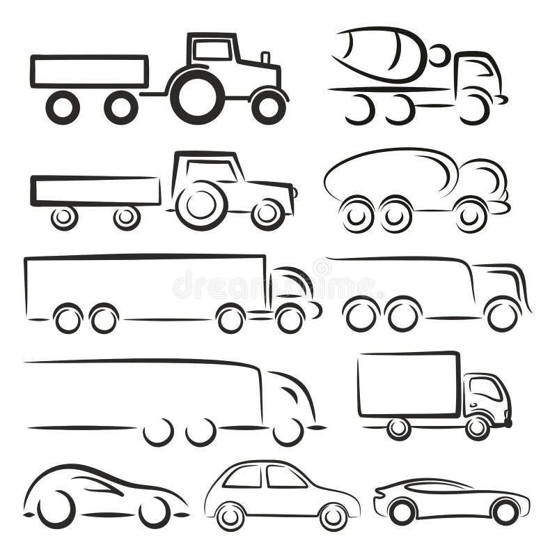 Logotipos del transporte libre illustration