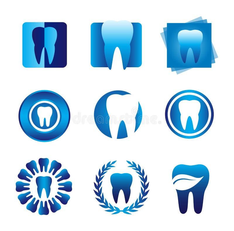 Logotipos dentais modernos ilustração stock