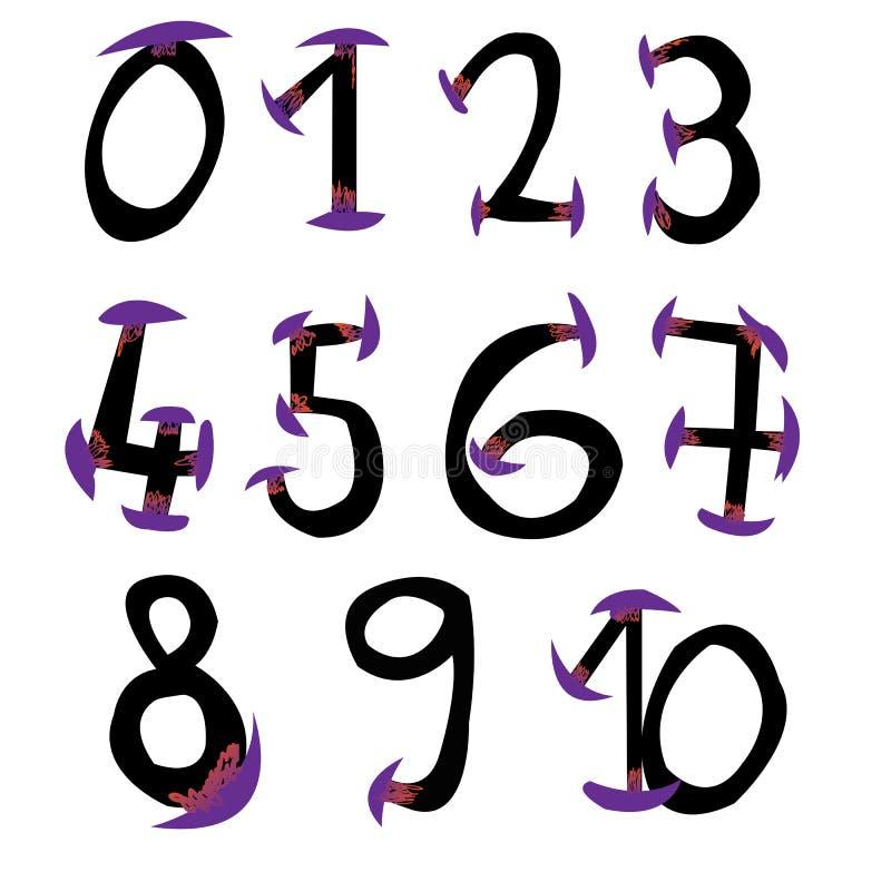 Logotipos determinados del número para las celebraciones ilustración del vector