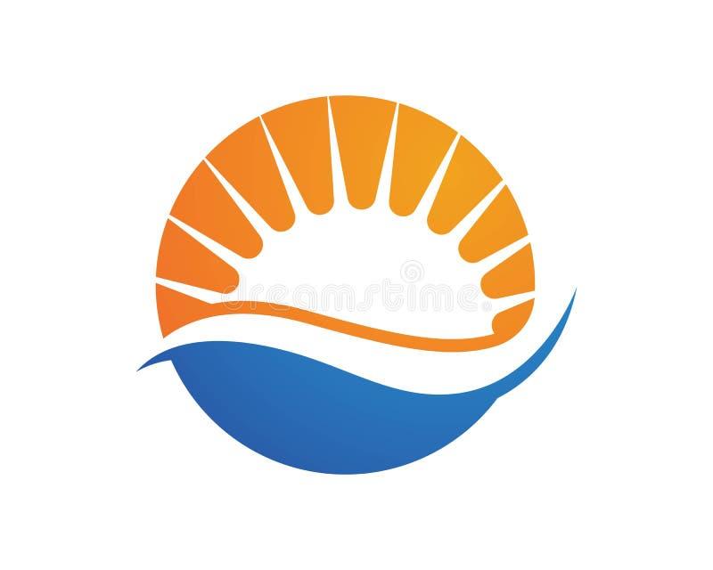 Logotipos do ícone da estrela da explosão de Sun ilustração do vetor