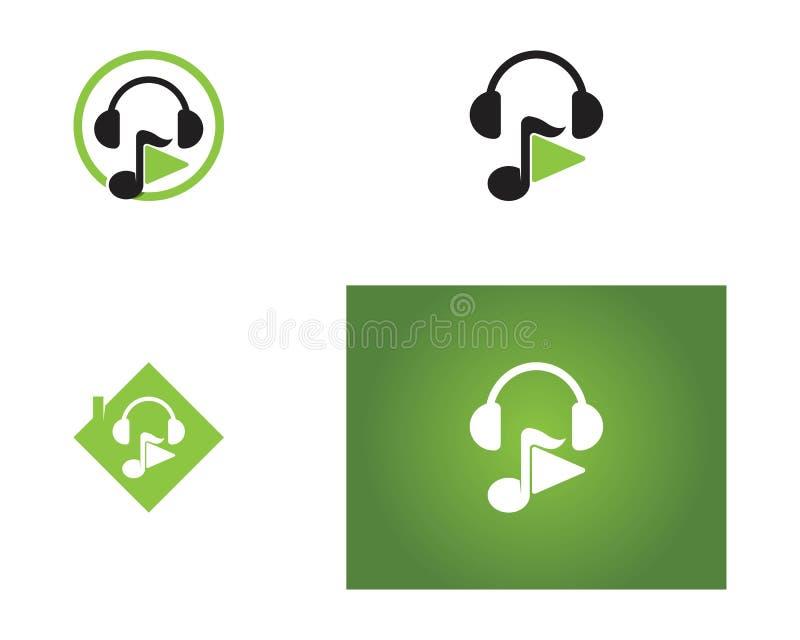Logotipos do ícone do jogo da música ilustração do vetor