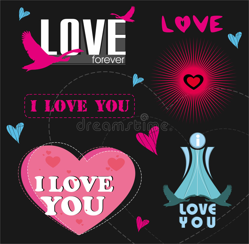 Logotipos do amor ilustração do vetor