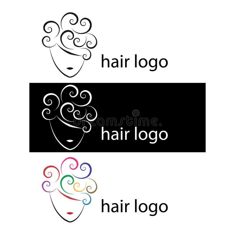 Logotipos do cabelo ilustração stock
