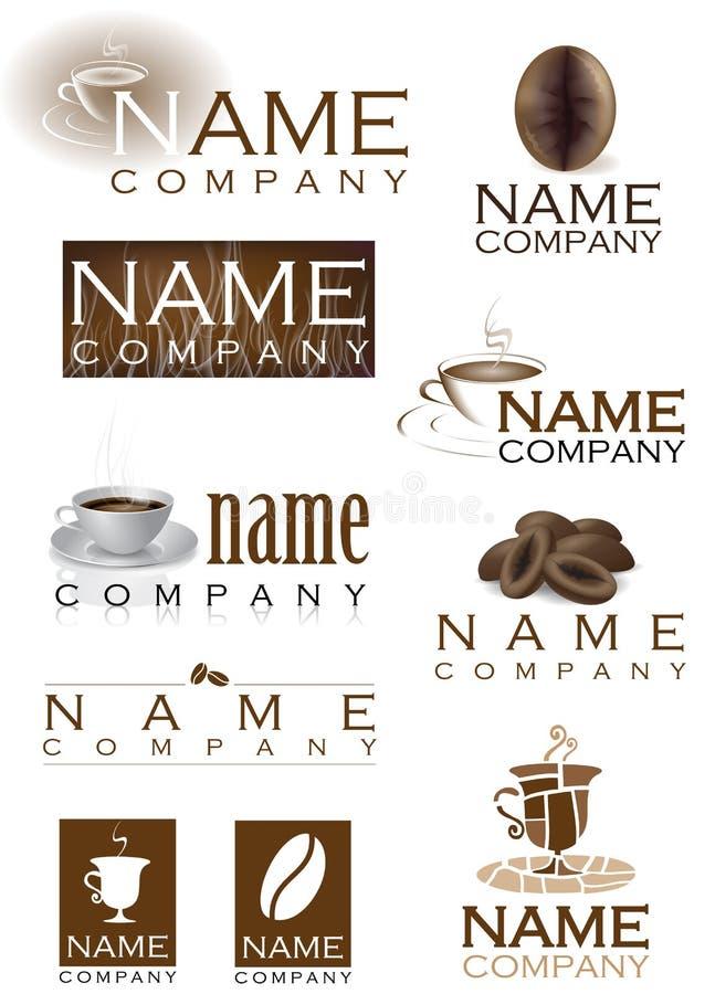 Logotipos do café ilustração do vetor