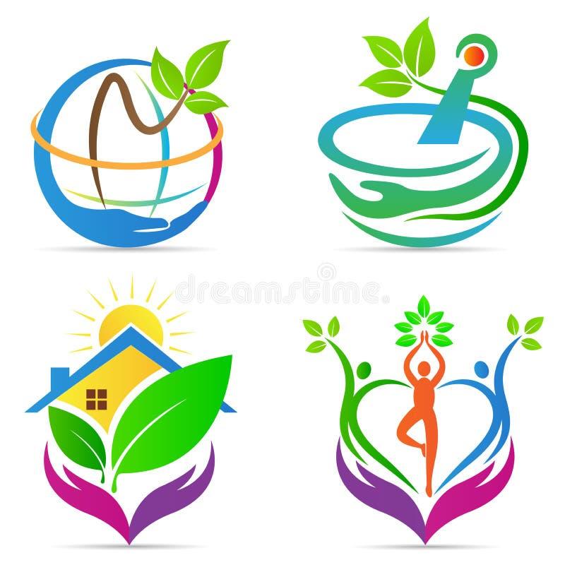 Logotipos do cuidado ilustração royalty free