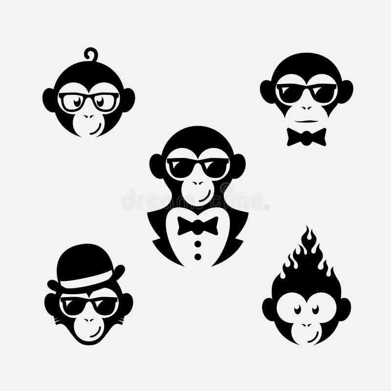 Logotipos do macaco ilustração royalty free