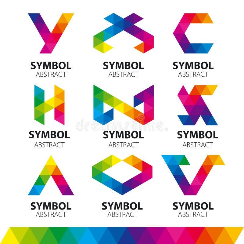 Logotipos do vetor dos módulos abstratos ilustração do vetor