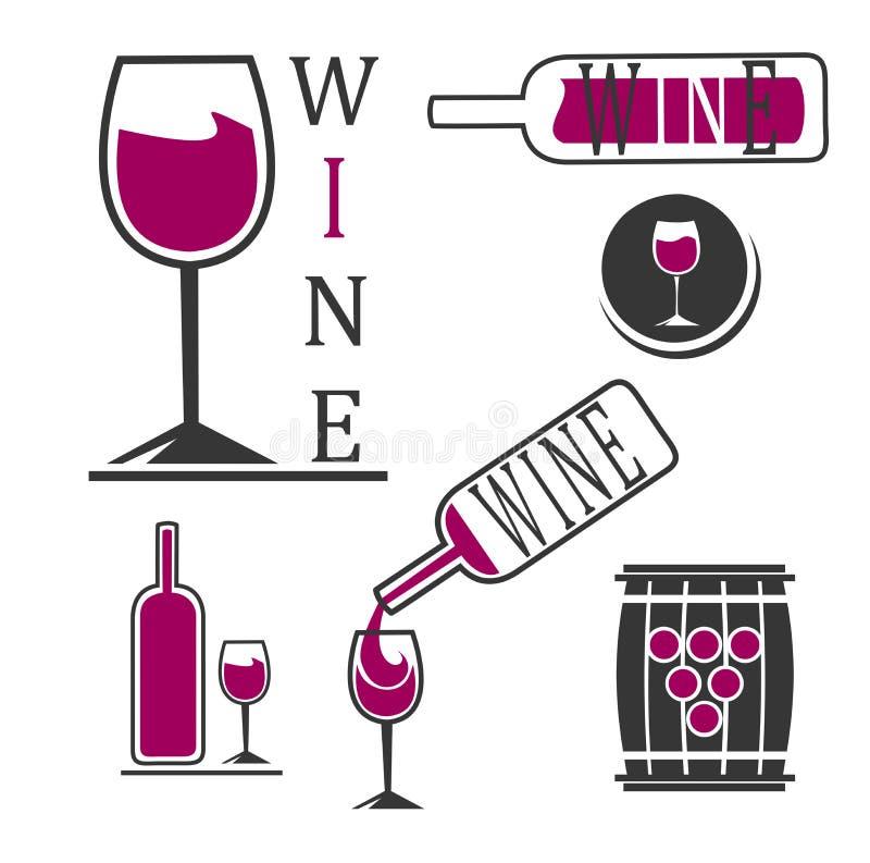 Logotipos do vinho ilustração do vetor