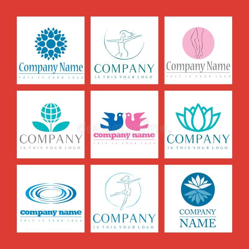 Logotipos do Wellness ilustração do vetor