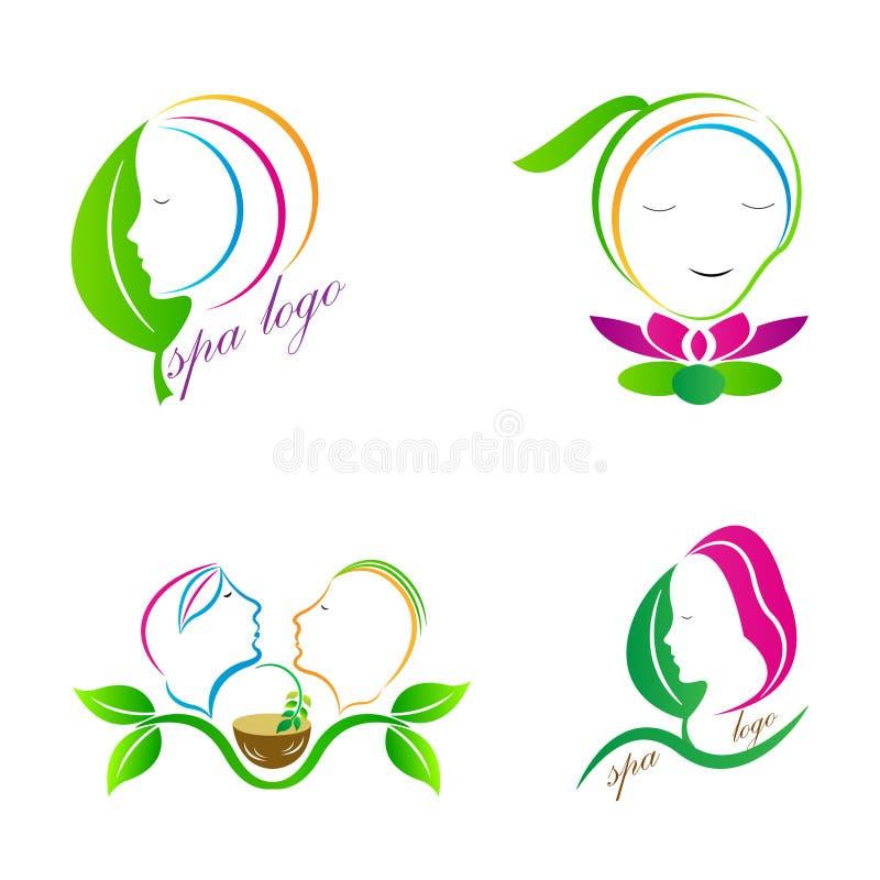 Logotipos dos termas ilustração do vetor