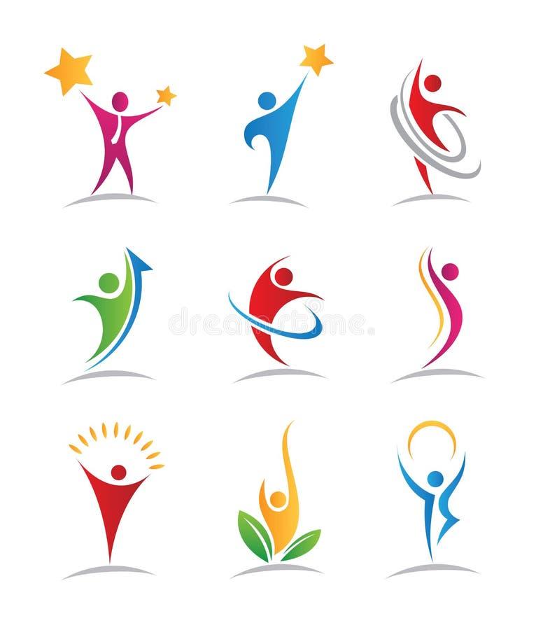 Logotipos e ícones da harmonia ilustração royalty free
