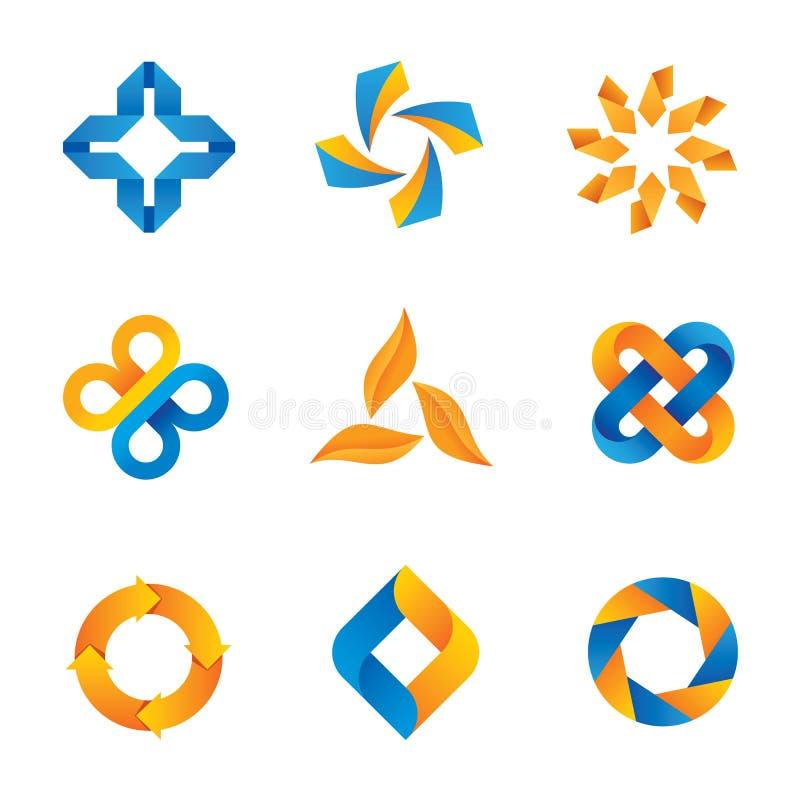 Logotipos e iconos loopable frescos ilustración del vector