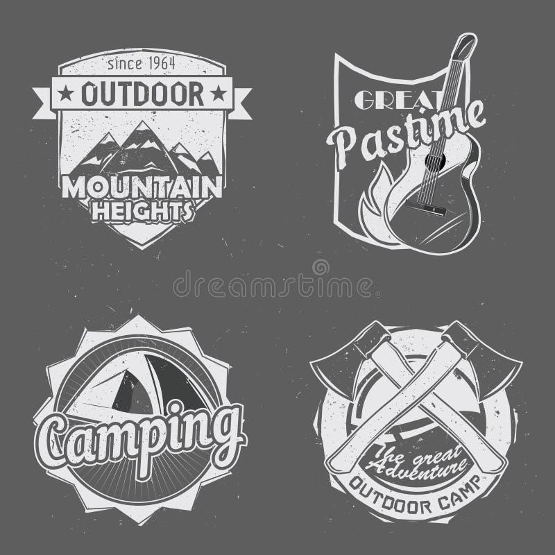 Logotipos exteriores do curso ilustração royalty free