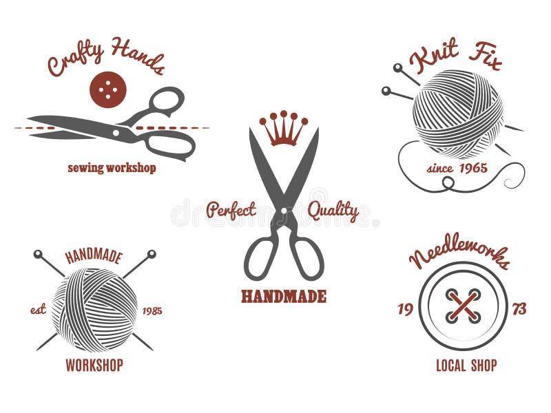 Logotipos hechos a mano libre illustration