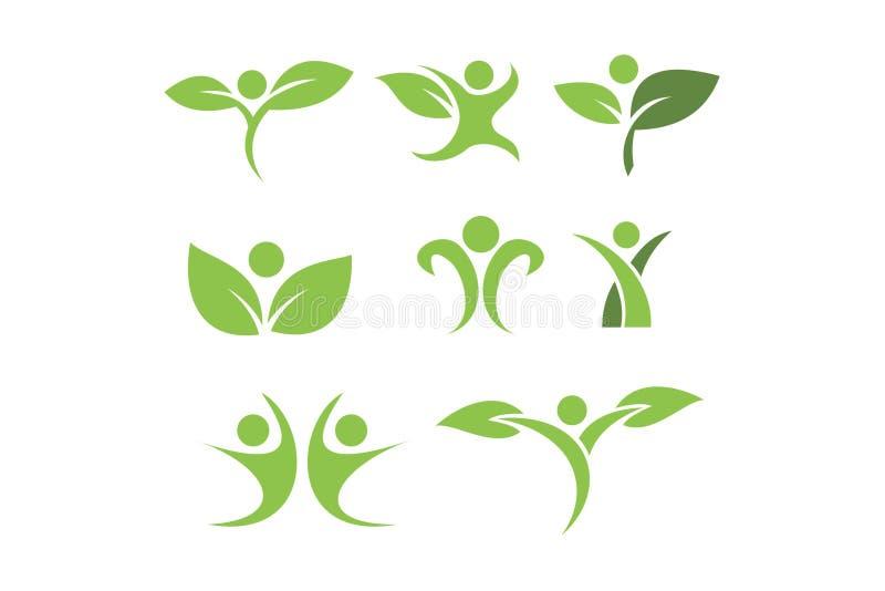Logotipos humanos ilustração stock