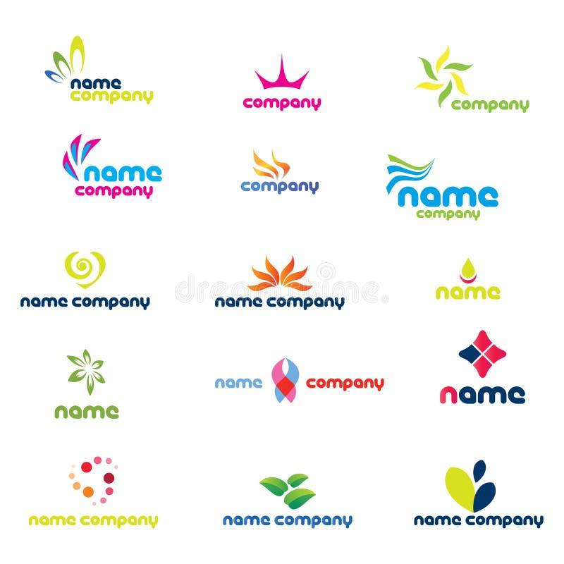 Logotipos modernos da companhia ilustração stock