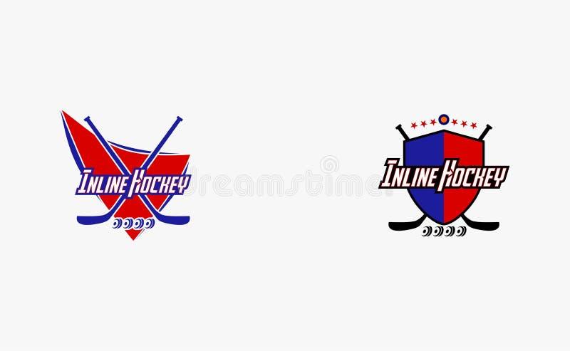 Logotipos para el equipo de hockey en línea stock de ilustración
