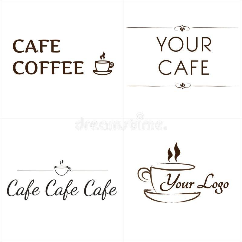 Logotipos para o café imagem de stock royalty free