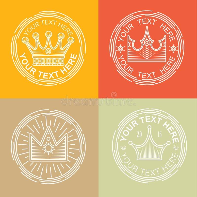 Logotipos reais ajustados ilustração royalty free