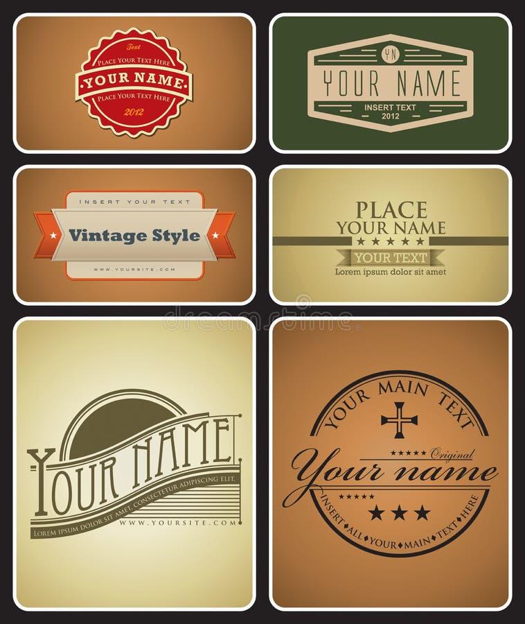 Logotipos retros ilustração stock