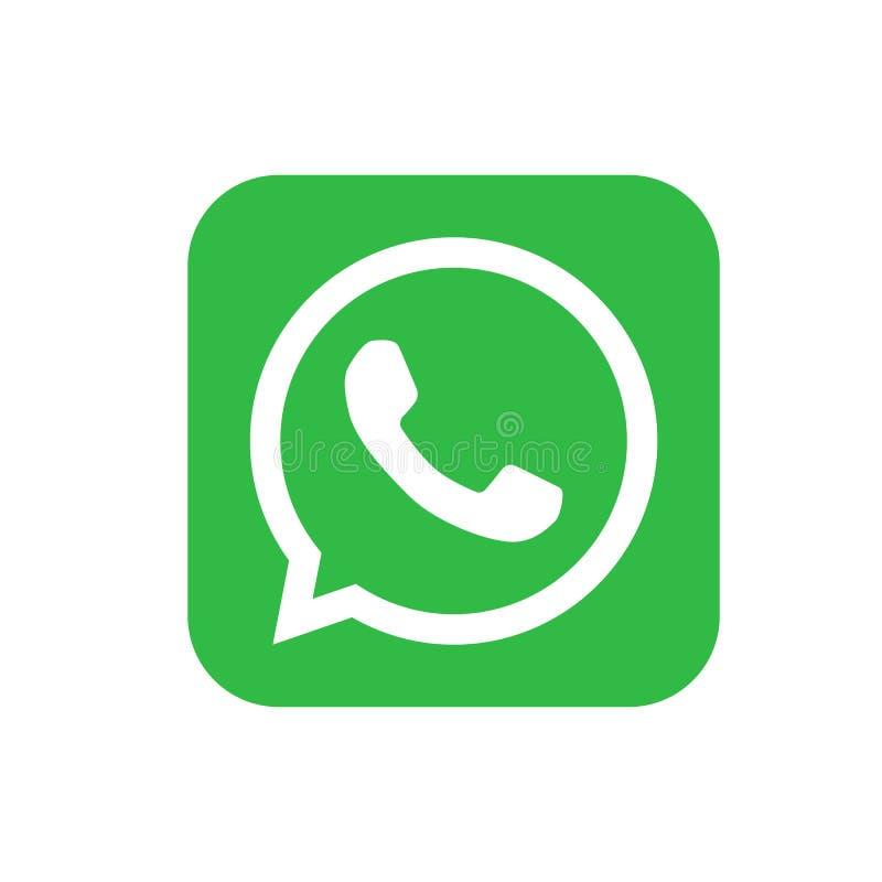 Logotipos sociais populares dos meios, whatsapp de youtube do gorjeio do instagram do facebook dos ?cones ilustração royalty free