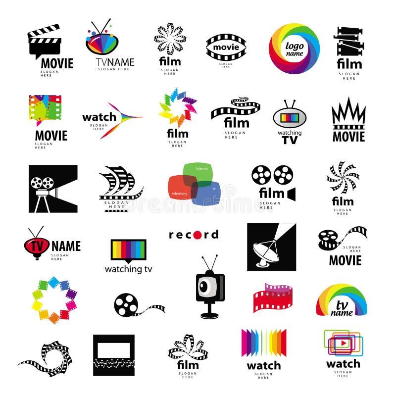 Logotipos TV, vídeo, foto, película stock de ilustración