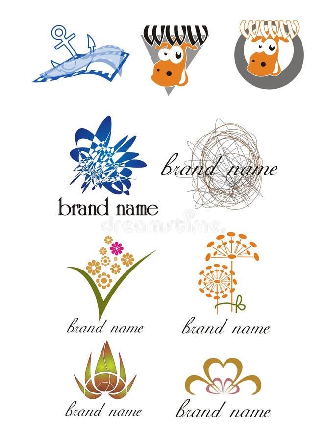 Logotipos universais para empresas criativas ilustração do vetor