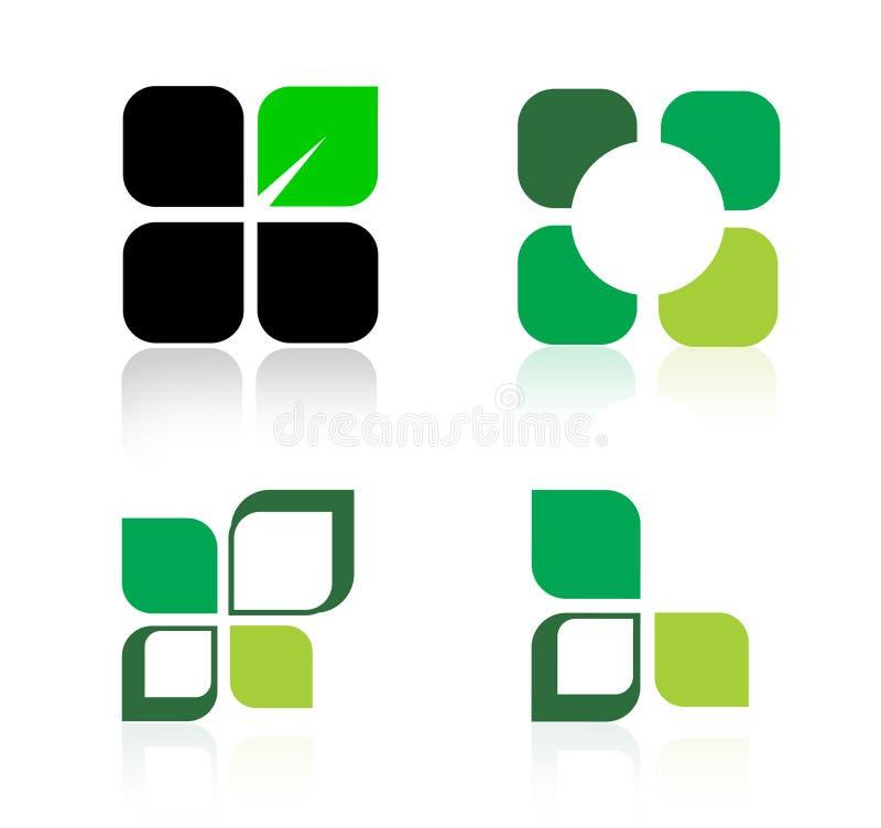 Logotipos verdes ilustração royalty free