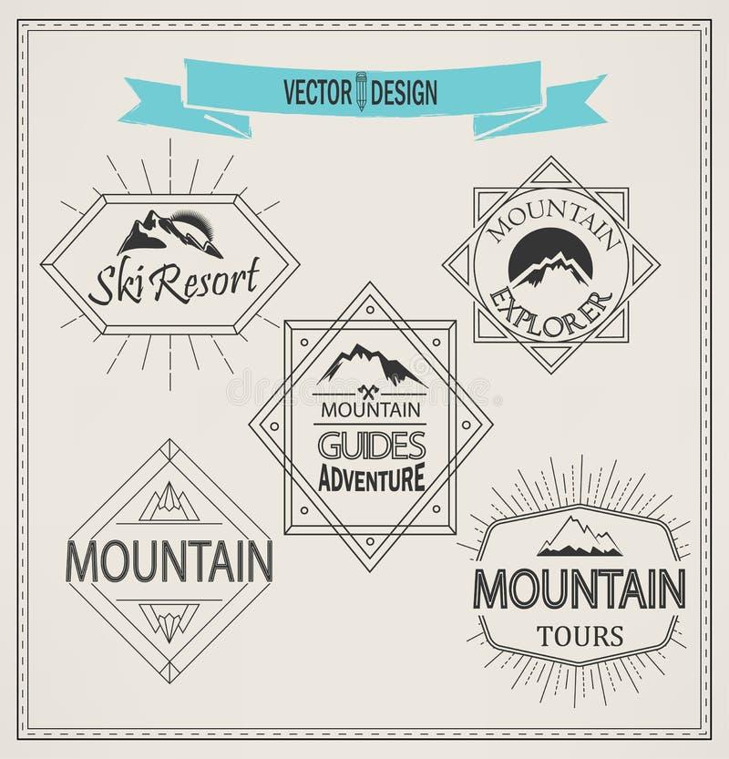 Logotipos y emblemas de la montaña del vector libre illustration