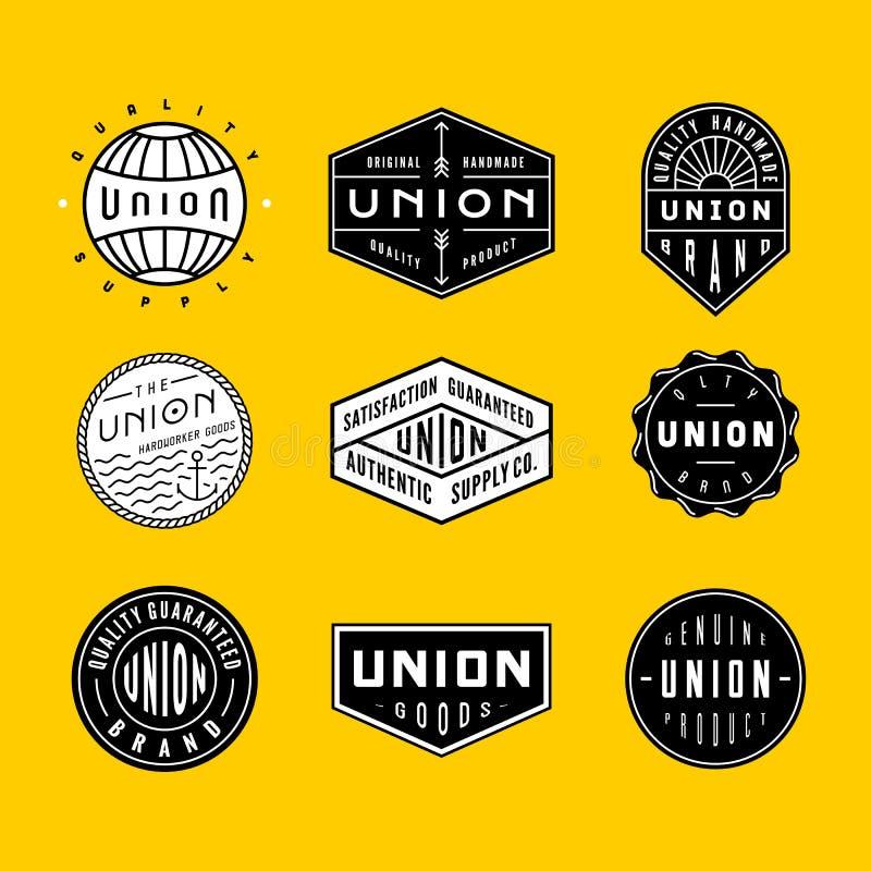 Logotipos y insignias 2 del vintage imagen de archivo libre de regalías