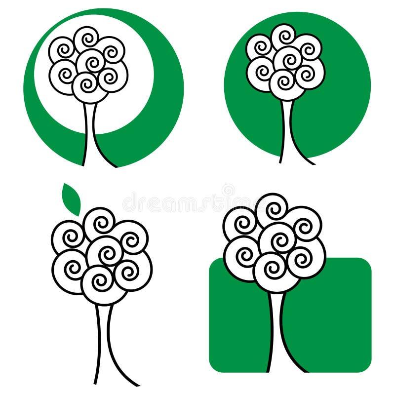 logotree royaltyfri illustrationer