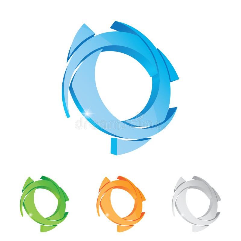 logotyp stock illustrationer