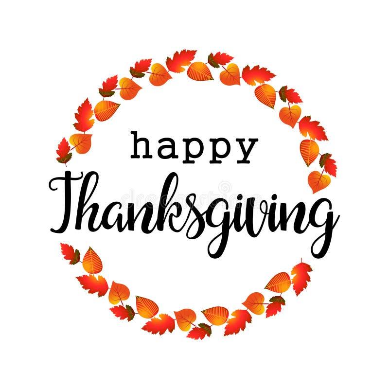 Logotyp, emblem och symbol för dag för tacksägelse för plan designstil lycklig Lycklig mall för tacksägelsedaglogo royaltyfri illustrationer