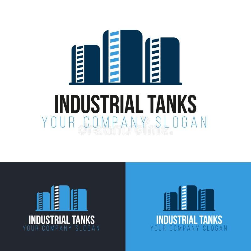 Logotyp för industritankar Industri Vektorlogotypdesign vektor illustrationer