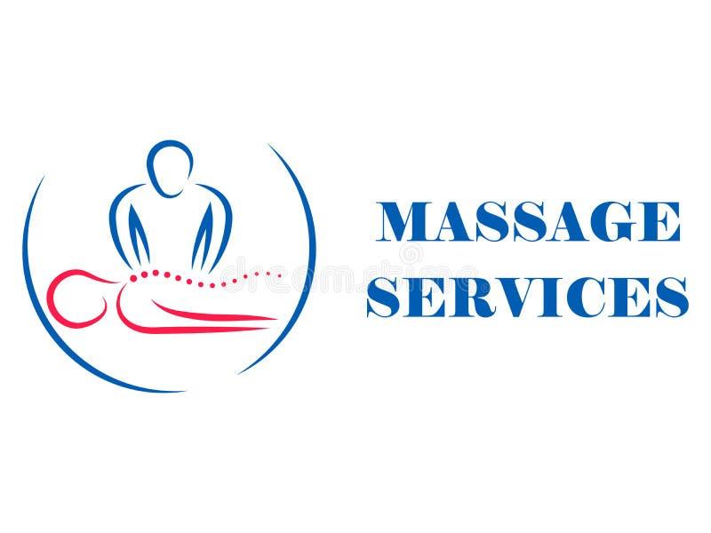 Logotyp för massagesalong och hälsobehandlingar arkivfoto