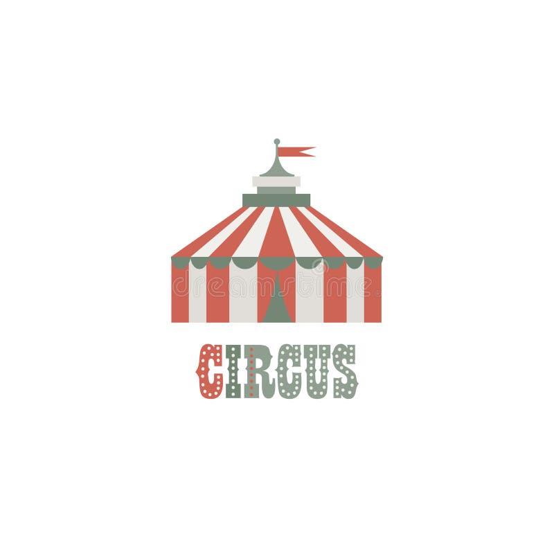 logotyp ilustracja Cyrkowy namiot na białym odosobnionym tle ilustracji