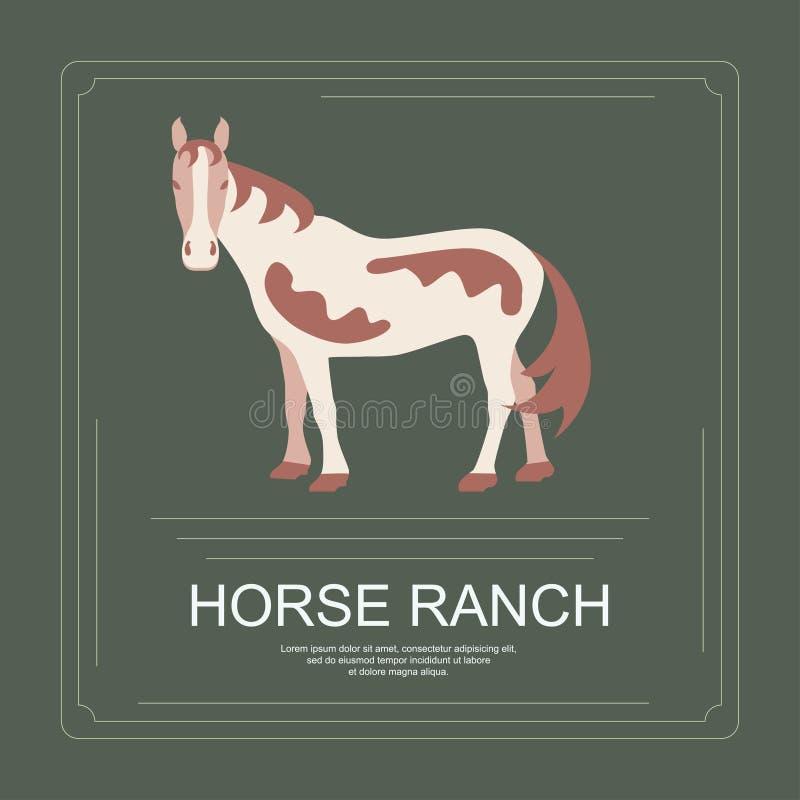 Logotyp koński ranche ilustracji