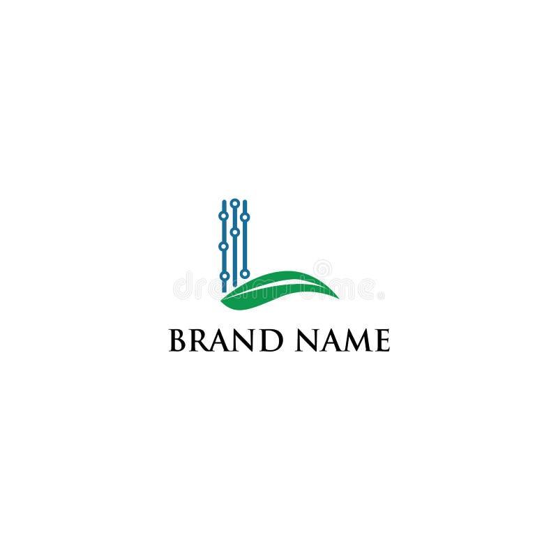 Logotyp l elektriskt digitalt modernt royaltyfri illustrationer
