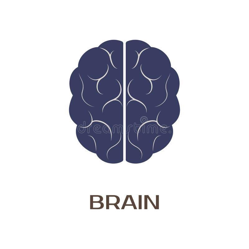 Logotyp mózg również zwrócić corel ilustracji wektora ilustracja wektor