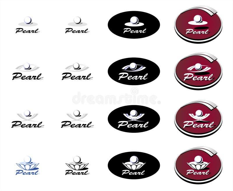 logotyp perła royalty ilustracja